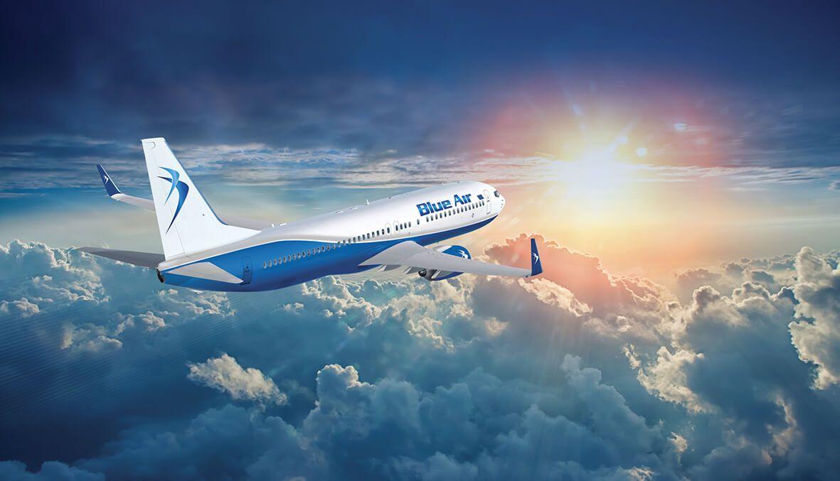 blue air equipaje de mano